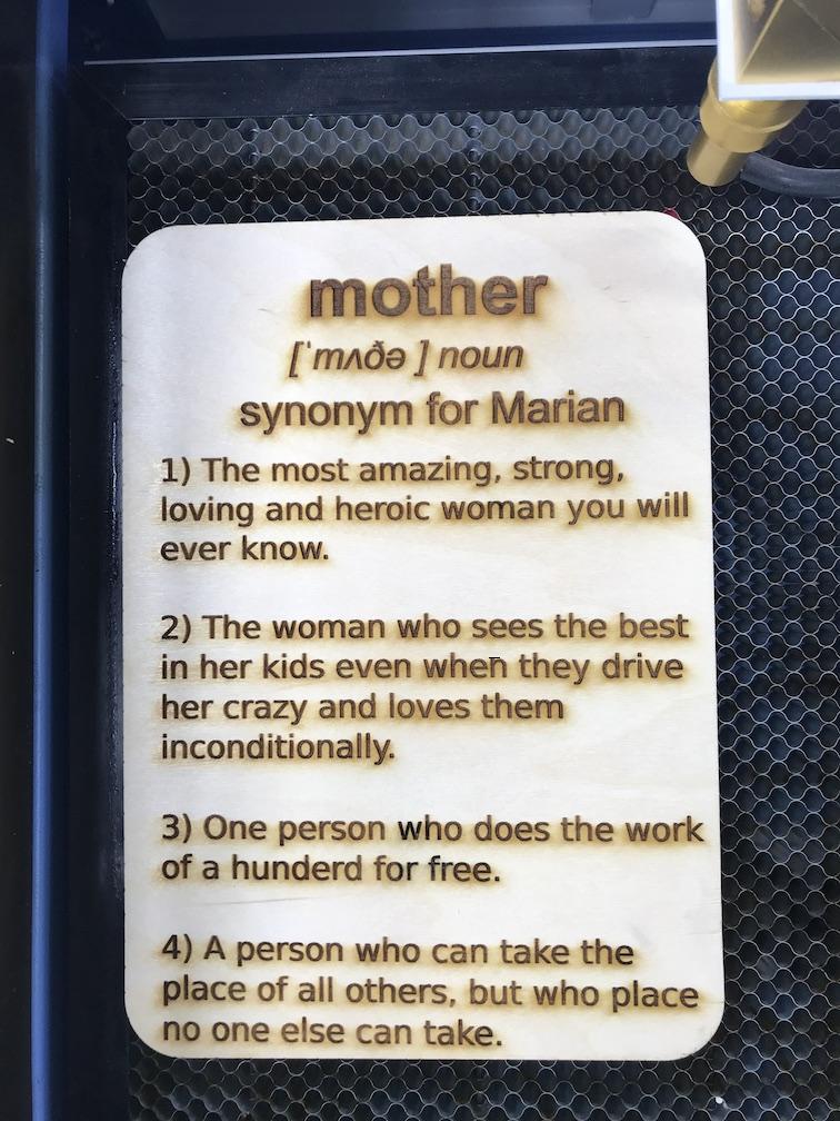 Moeder dag kado