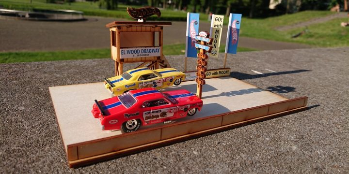 Diorama drag racetrack