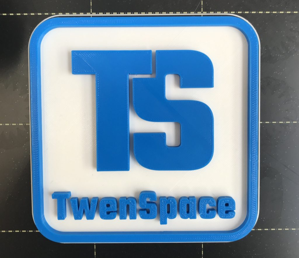 naamplaat met 3d printer, 2 kleuren