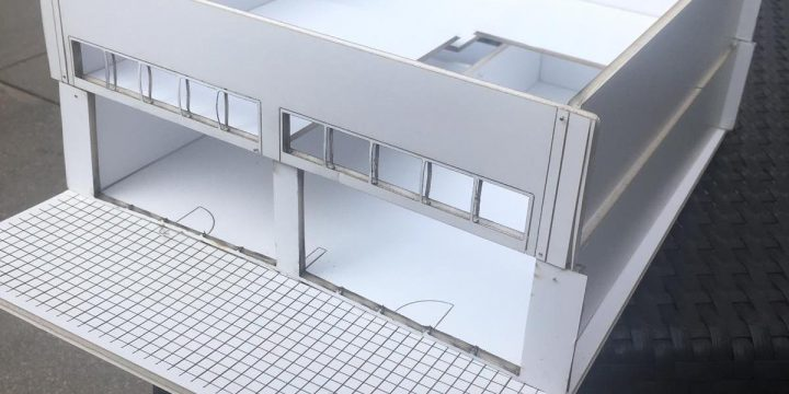 Architectonische model in foamboard